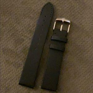 New Black Satin 18mm Michele Watch Strap